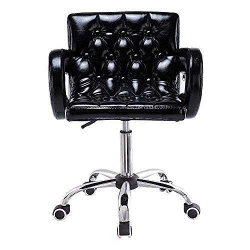 Chaise pivotante multifonctionnelle, tabouret à roulettes Beauty, hauteur réglable, avec roulettes, rotation de 360 degrés, chaise confortable avec accoudoir, charge maximale 150 kg