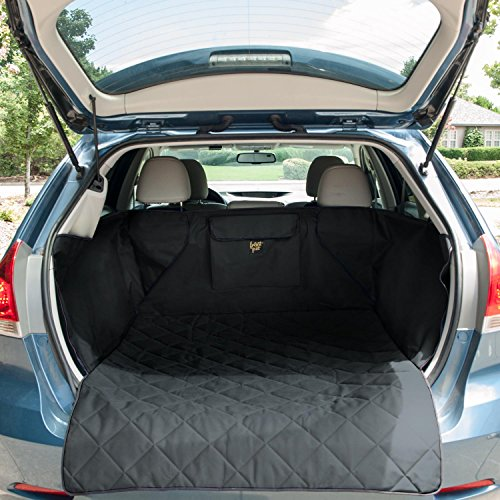 FrontPet Quilted Dog Cargo Cover for SUV, Universal Fit for Any Pet Animal. Durable Liner Covers and Protects Your Vehicle, Regular, Large and Extra Large (Large, Black)