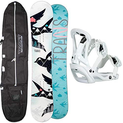 Unbekannt Damen Snowboard Set Trans FR Girl White 152 cm + FTWO Sonic BINDUNG GR. M + Bag