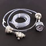Yosoo DIY CO2 dióxido de carbono generador acuario sistema sistema kit D201 tubo válvula calibre tapa botella