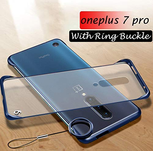 one Plus 7 Pro Cover Mobistyle Ultra Thin Frameless Matte Transparent with Ring Buckle Back Cover Case for oneplus 7...