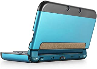TNP New 3DS XL Case (Light Blue) - Plastic + Aluminium Full Body Protective Snap-on Hard Shell Skin Case Cover for New Nintendo 3DS LL XL 2015 - [New Modified Hinge-less Design]