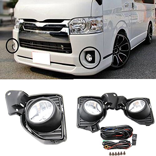 Auto-Tech Fog Lamp for TOYOTA HIACE 2014 2015 Front Fog Lamp Cover Trim Replace