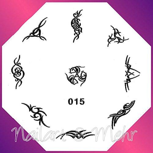 Pochoir de stamping # 015 ~ Tribals ~ (HB)