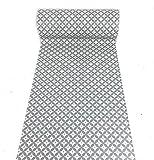 De'Carpet Vinilo PVC A Medida Alfombra FÁCIL Limpieza Antideslizante Rombos Gris (65cm Ancho) (1 Metro)