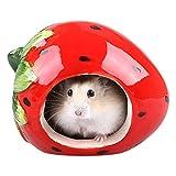 Zwerg Hamster Versteck Liebenswürdig, Cartoon Form Hamster House Chinchilla Mini Hut Klein Tier Keramik Versteck Höhle