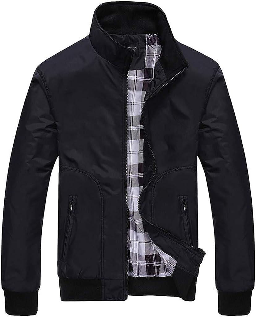 XXBR Baseball Jackets for Mens, Fall Plaid Patchwork Zipper Sweatshirts Lightweight Windbreaker Sports Casual Outerwear