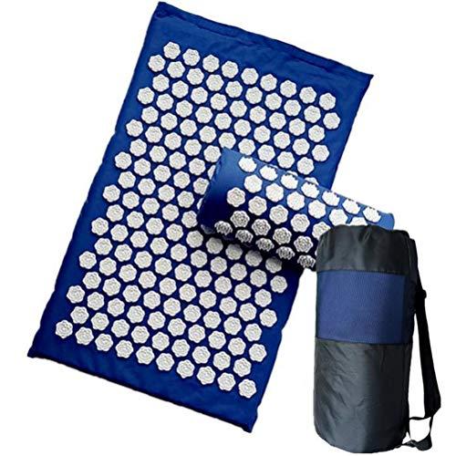 Acupressuur verlichten rugpijn spike mat massage (ongeveer 62 * 38 cm) kussen acupunctuur yoga massage mat/kussen blauw