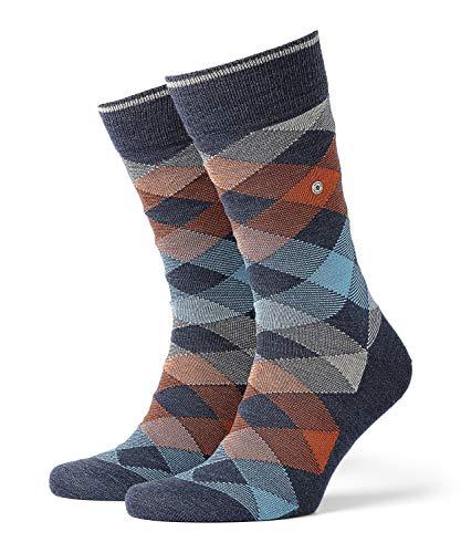 Burlington Herren Newcastle M SO Socken, Blickdicht, Blau (Dark Blue Melange 6688), 40-46 (UK 6.5-11 Ι US 7.5-12) (2er Pack)