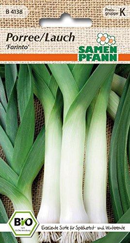 Samen Pfann B4138 Porree Farinto (Bio-Porreesamen)