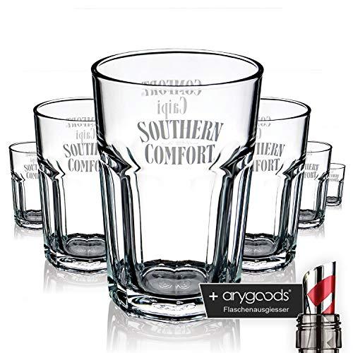 6 x Southern Comfort Glas Gläser Longdrink Caipi Edition Gastro Bar