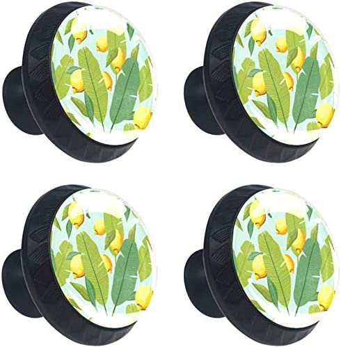 4 Pack Round outlet Cabinet Hardware Knob 1-37 and Lemon 100