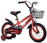 OYY Manufacture Bicicletas para niños, Chico Camino Ciclismo Chica Aprendiendo Bicicleta Balance Rueda de Equilibrio 12'14' Amortiguación Mountain Bike (Color: Rojo, Tamaño: 14 Pulgadas)