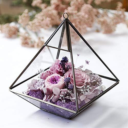 Decorativa flores artificiales Nunca marchitadas claveles rosa flores de cristal regalo de...