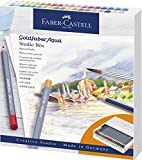 Faber-Castell Goldfaber Aqua 114616 - Lápices de acuarela (38 unidades, incluye accesorios), multicolor