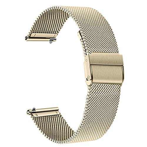 TRUMiRR Uhrenarmband Kompatibel mit Huawei Watch GT 2 42mm/Honor MagicWatch 2 42 mm Armband, Mesh Gewebte Edelstahl Armband Ersatzband für Huawei Watch GT2 42mm Smartwatch