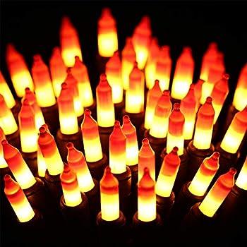 ⭐️Halloween String Lights - 24ft 100 Incandescent Orange&Yellow Mini Bulbs Lights Halloween Lighting Decor for Outdoor&Indoor Use Fairy Garden Yard Home Party Holiday Halloween Decorations