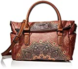 Desigual Bag Tekila Sunrise Loverty, Bolso Plegable para Mujer, Marrón (Cognac), 24 x 16 cm (B x H x T)