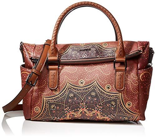 Desigual Bag Tekila Sunrise Loverty, Bolso Plegable para Mujer, Marrón (Cognac), 24 x 16 cm (B x H x T)