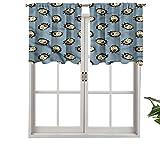 Hiiiman - Juego de 1 cortina de ventana con tarro de mermelada, 137,2 x 45,7 cm para el hogar decorativo paneles opacos para cocina