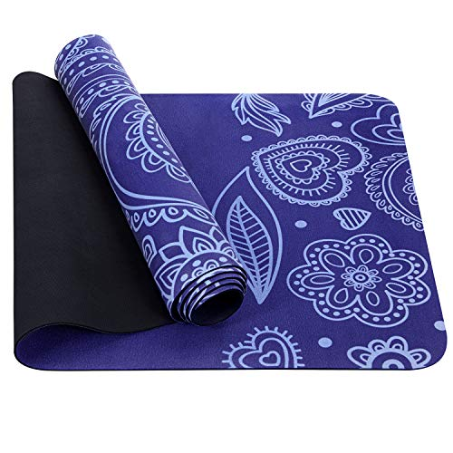 TOPLUS Yoga Mat Non Slip Exercise Mat Made from Premium Material NonToxic High Performance Grip Coming with Carry Strap or Bag 1/161/4 inch Purple