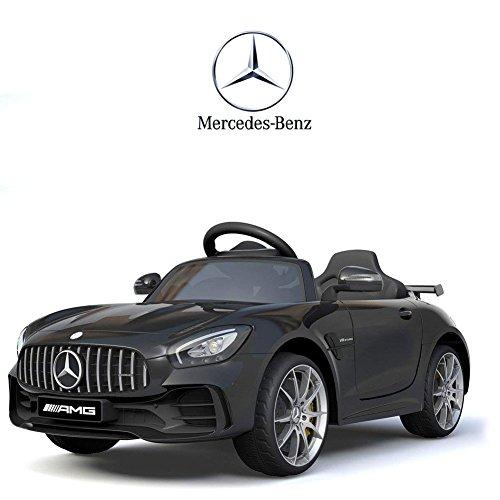 BAKAJI Auto Elettrica per Bambini Mercedes Benz AMG GTR 12V SoftStart con Telecomando Parental Control (Nero)