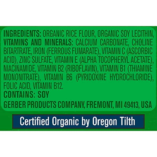 Image of Gerber Baby Cereal Organic Rice Cereal, 8 Ounces (Pack of 6)