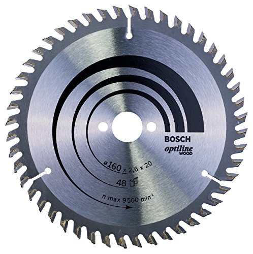 Bosch Professional Kreissägeblatt Optiline Wood (für Holz, 160 x 20 x 2,6 mm, 48 Zähne, Zubehör Kreissäge)