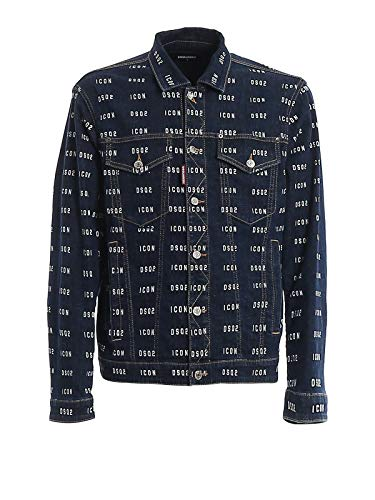 DSQUARED2 Luxury Fashion Herren S79AM0003S30342470 Blau Baumwolle Jacke | Frühling Sommer 20