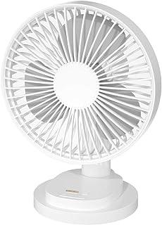 VENKIM 卓上扇風機 卓上 せんぷうき 自動首振り クリップ 壁掛け 扇風機 リビング 小型 USB 充電式 携帯扇風機 サーキュレーター 四段階風量調節 角度調整 静音 大風量 (ホワイト)