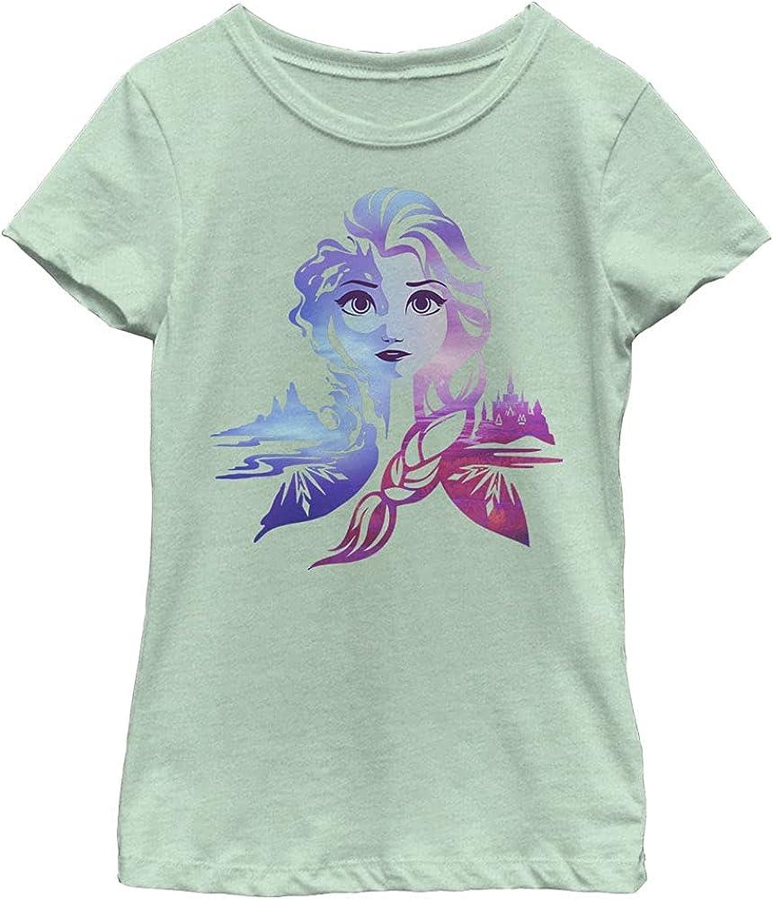 Disney Frozen 2 Elsa Seasons Girl's Heather Crew Tee