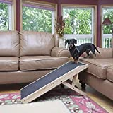 DoggoRamps Couch Ramp for Dogs - Adjustable Height with Mini Platform Top, Anti-Slip PAWGRIP, for Dogs, 5 Colors to Match Your Home