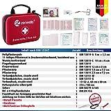 Erste Hilfe Set Wandern, Outdoor, Fahrrad & Reise Zubehör für die Erstversorgung der häufigsten Notfälle nach DIN 13167 – First Aid Kit für Ihre Sicherheit - 3