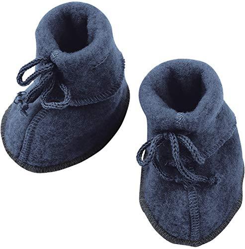 Engel 100% lana merino pile stivaletti neonato scaldamuscoli calzini 57 5582 (1, blu melange)