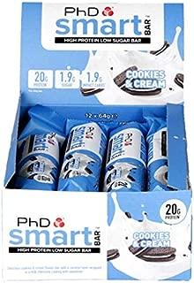 PhD Smart Bar Cookies & Cream 12 Bars x 64g