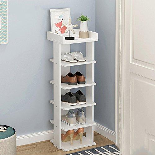 LJHA Étagère à chaussures en bois solide multicouche / Shoebox économiseur d'espace économique simple / casier assemblé moderne / support de stockage de chaussure antipoussière Meubles à chaussures ( Couleur : B , taille : 85cm )