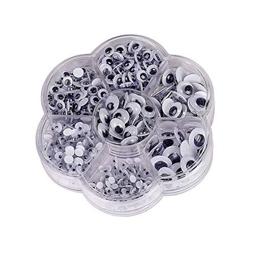 Adhesivos Ojos de plástico Móviles Manualidades Ojos para DIY Scrapbooking Artesanía Accesorios de Juguete 500 Piezas