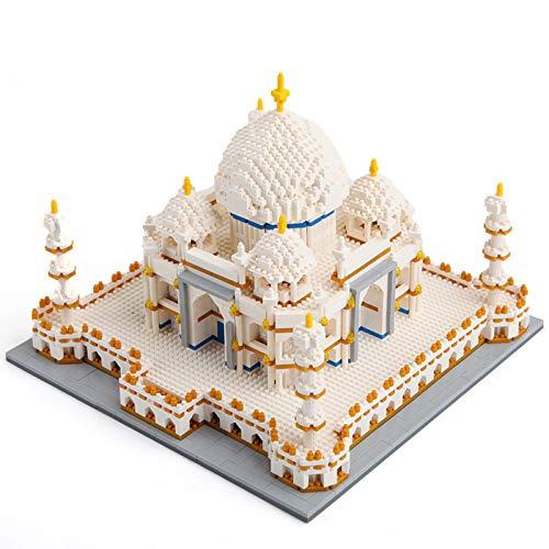 WENBING Juegos de construcción para niños, Taj Mahal World Famous Landmark 4019pcs Nano Mini Kits de Bloques de construcción de construcción de niños de Bricolaje Educativo Regalos