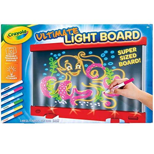 Crayola Ultimate Light Board Red, Drawing Tablet, Gift for Kids, Ages 6, 7, 8, 9