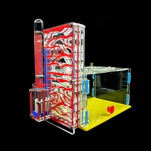 KKmoon DIY T-Design Área de alimentación Granja de insectos de acrílico Villa Pet Mania House Ant Nest Regalo de regalo de cumpleaños