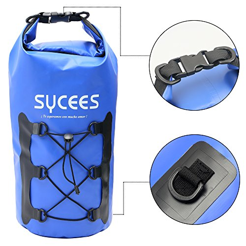SYCEES Bolsas estancas Impermeable 10L Azul Bolsillo