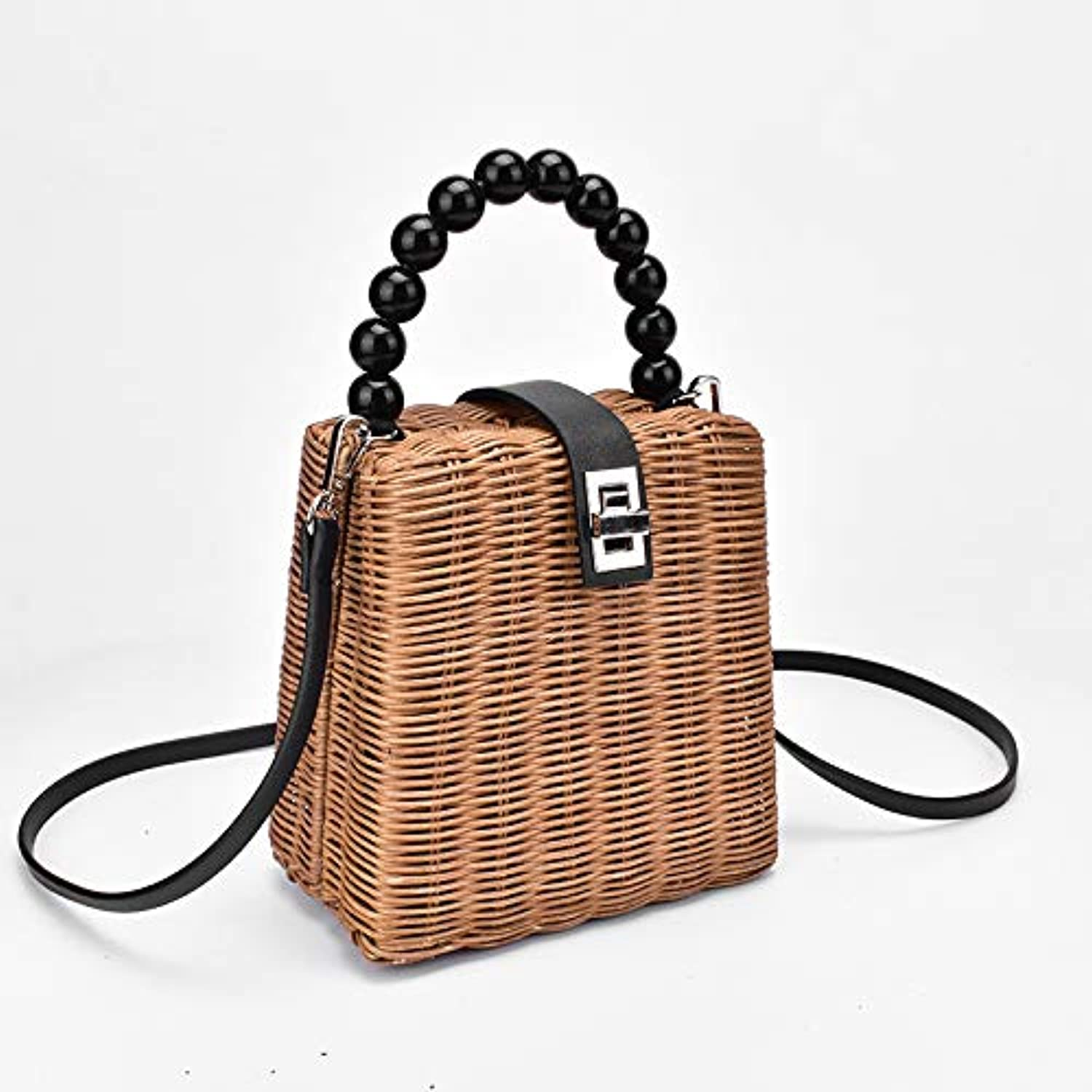 ASHIJIN Hand-Woven Straw Bag for Women Small Bags for Summer Travel Bag, Bag
