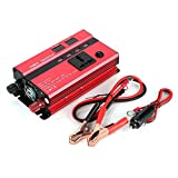 Power Inverter 600W Car Power Voltage Inverter DC12V to AC220V Transformer Correction Wave with LED Indicator Multi Protection Safety Car Inverter USB Port Cigar Lighter Ports