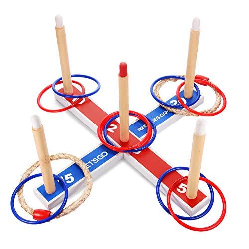 EUTOYZ Juguetes para Niños 3-7 Años, Juego de Lanzamiento de Anillos Juegos Jardin Juguetes Exterior para Niños Juegos Aire Libre para Niños Regalos Niño 3 4 5 6 7Años Regalos Cumpleaños Niños