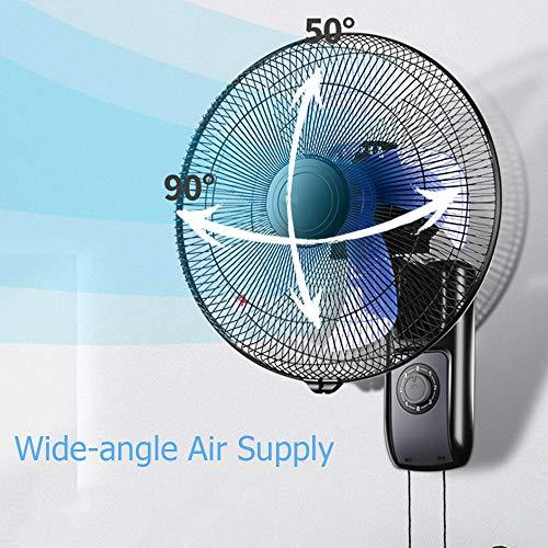 SMYH - Ventilador de pared silencioso con mando a distancia, ventilador de pared oscilante industrial, 5 palas, 16/18 pulgadas, Mechanical, 16inch