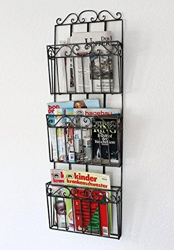 DanDiBo Wandregal Zeitungsständer 09911 Magazinhalter 101 cm Küchenregal Zeitungshalter