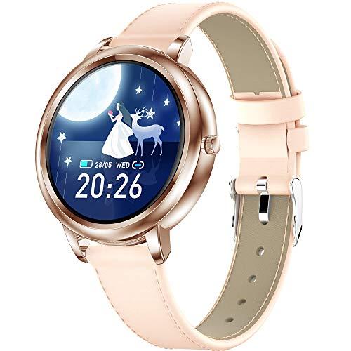 GANG Smart Watch Women Damas Actividad Fitness Tracker Impermeable Hr Ritmo Cardíaco Presión Arterial Monitor de Salud Monitor de Salud Smart Relojes Sleepers Step Counter Pedómetro