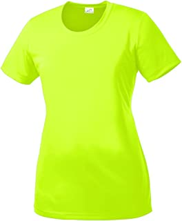 Joe's USA DRI-Equip Women's Neon Color High Visibility Athletic T-Shirts in Sizes S-4XL