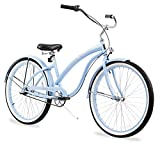 Firmstrong Bella Classic 3-Speed Beach Cruiser Bicycle, 26-Inch, Baby Blue