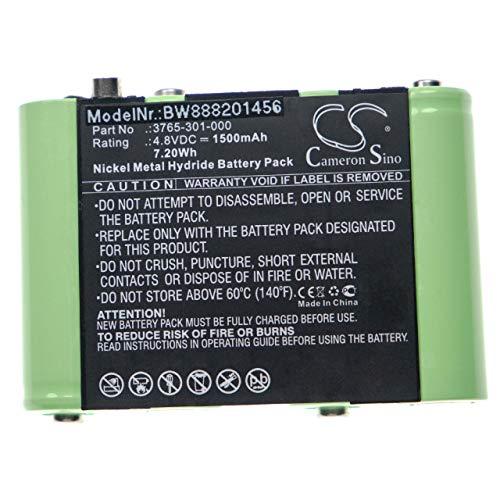 vhbw batería compatible con Peli 3715Z0 LED ATEX 2015, 3760Z0, 3765, 3769 linterna de bolsillo front (1500mAh, 4,8V, NiMH)